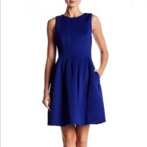 Vince Camuto Royal Blue Fit and Flare Dress Size 6